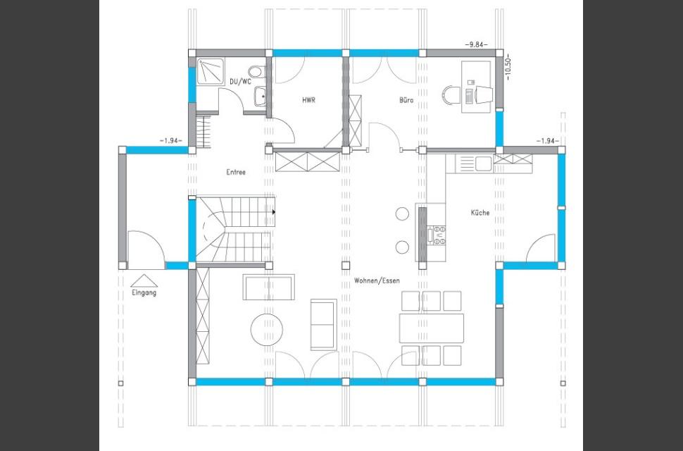 Holzskelettbauweise grundriss  Meisterstück-HAUS | Hausdetail